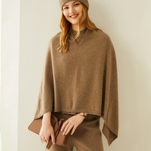 Cashmere-Shawl Warm-Cape Female Autumn Winter with Scarf And Versatile New 100%Pure