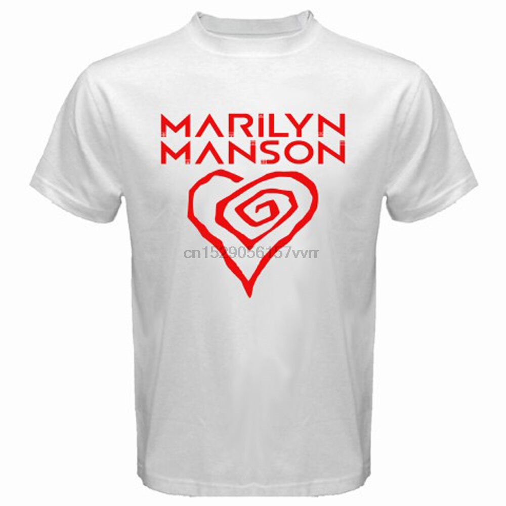 New Marilyn Manson Logo Metal Rock Icon Legend Men/'s Black T-Shirt Size S to 3XL