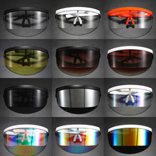1pcs Goggle Shield Large Mirror Sun Glasses Half Face Shield Guard Motorcycle Glasses Anti-UV Sunglasses Eyewear Anti-Peeping(China)