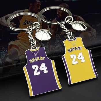 Women Man Favorite Basketball Star Kobe-Bryant Memorial Acrylic Keychain Key Chains Ring Charm Keychains Keyring Gift - discount item  35% OFF Fashion Jewelry