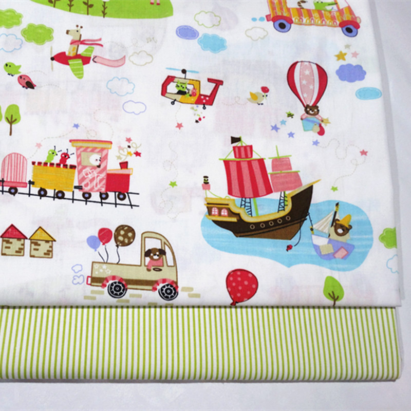 Baby Twill Fabric Cotton Printing Cartoon Car Furniture Cover Sewing Fabric Soft Breathble Kids Bedding Home Textile Fabric