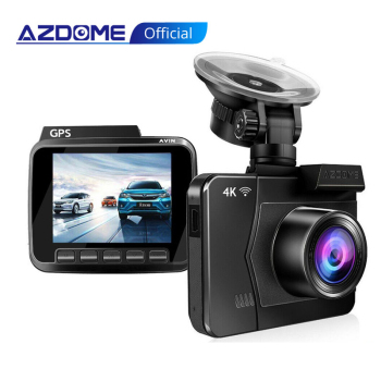 AZDOME M06 4K Dash Cam Built in GPS WIFI Night Vision Car Camera 24H Parking Video Recorder Dual Lens DVR Rear View DashCam 1