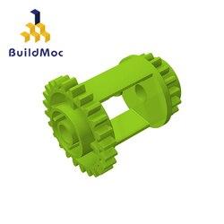 BuildMOC 6573 Technic Gear Differential 24-16 Teeth For Building Blocks Parts DIY LOGO Educational Creative gift Toys