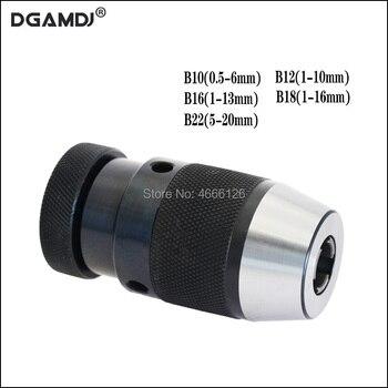B10( 0.5-6mm) B12(1-10MM), B16(1-13MM) ,B18(1-16MM) B22(5-20)drill chuck Keyless drilling Self Tighten Automatic Locking - discount item  14% OFF Machinery & Accessories