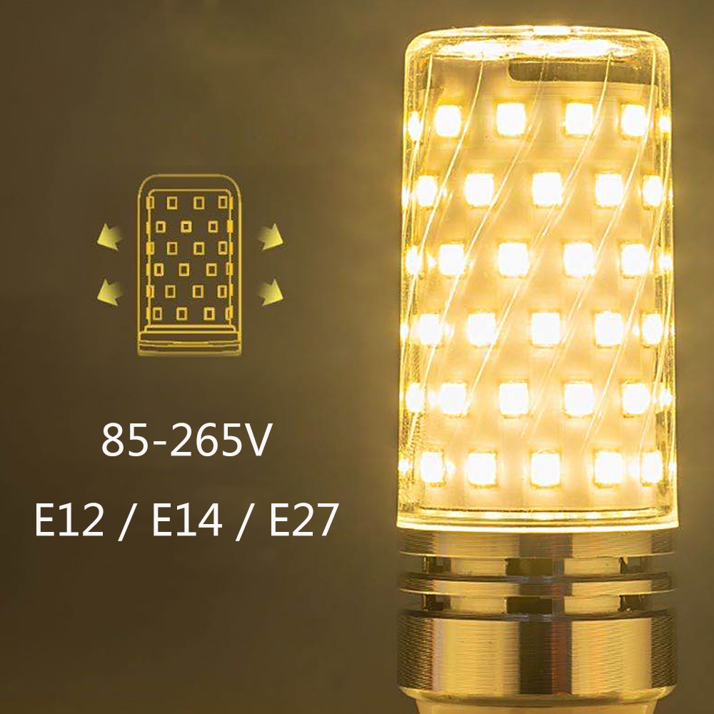 LEADLY E27 LED Lamp 85-265V LED Bulb SMD2835 Corn Bulb Warm White Cold White Chandelier Candle LED Light For Home Decoration