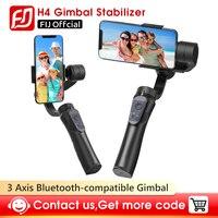 Gimbal H4 3 Axis USB شحن تسجيل فيديو دعم العالمي قابل للتعديل الاتجاه المحمولة Gimbal مثبت الهاتف الذكي Vlog