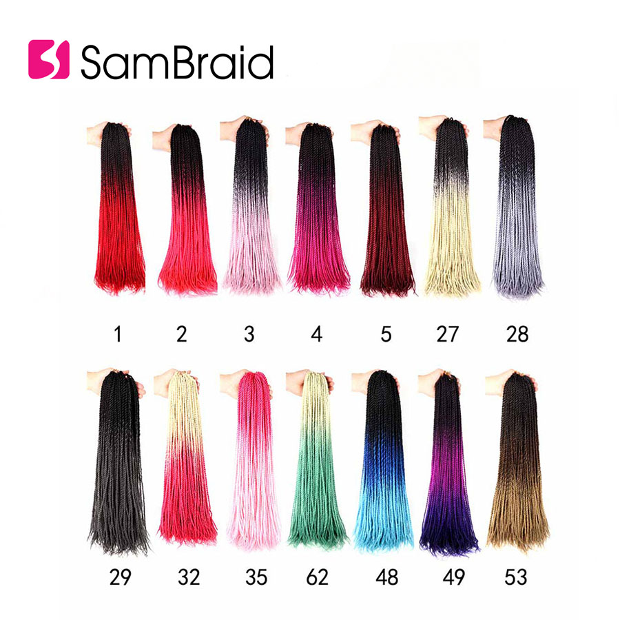 ÍUltimate SaleSAMBRAID 24Inches Ombre Senegalese Twist Synthetic Braiding Hair Colored Strands Hair¨