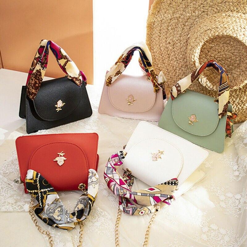 Hirigin 5 Colors Women Fashion Texture Handbag Female PU Shoulder Messenger Crossbody Bag Coin Purses