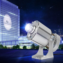 Led Logo Projector Custom IP65 85W Outdoor Gobo Rotatio Projector Voor Winkel Reclame Projectie Licht Proyector De Publicity(China)