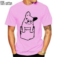 Franse Bulldog T-shirt-Swag-Hipster - Vintage - Print Pocket 2020 Ontwerpen Mannen T-shirt Tops Zomer Koel grappig Fitness T-shirt