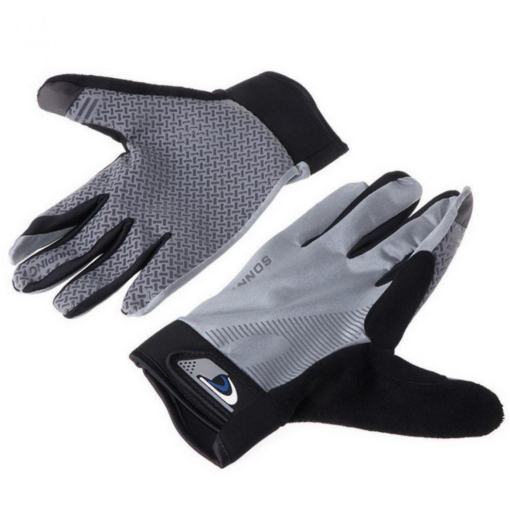 Outdoor Winter Sports Gloves Running Gloves Silicone Anti-slip Full Finger Gloves Touch Screen Riding Jogging Hiking Skiing