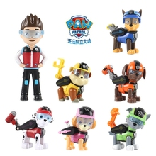 Paw patrol dog 7 pieces / set of puppy patrol car Patrulla Canina anime  chase mashall action character model toy Doll Xmas gift paw patrol four generations of upgraded pvc material snow dog beads bevel off road small grams of deformable catapult toy childr