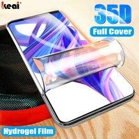 35D Idrogel Pellicola Per Huawei Honor 20 9 10 Lite 30 9X Pro 20i 7A 8X 10i Protezione Dello Schermo Per P di Smart Z Y6 Y9 Prime 2019 2020 X10 Nova 5t 7 Pro SE Pellicola