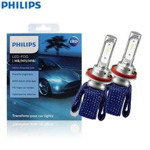 フィリップスultinon不可欠led曇H8 H11 H16 12v 11366UEX2 6000 6000k車のledフォグランプ自動車電球thermalcool (ツインパック)