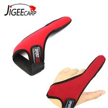 JIGEECARP 1PC Fishing Finger Glove Casting Finger Stall Morpted Pull Durable and Skid Resistant Terminal Fishing Gloves Red