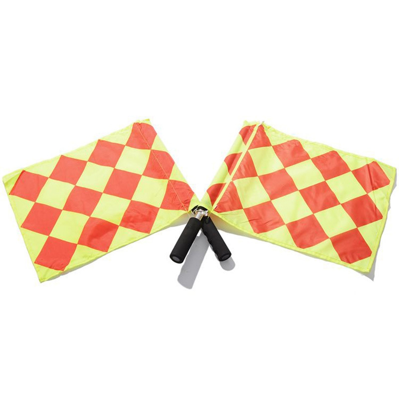 Football Match Patrol Flag Lineman Flag Football Referee Equipment Assistant Referee Flag Signal Start Flag 1 Set 2