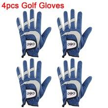 Golf-Gloves GOG Hand Left Sports Men Right Blue Fabric Wear-On Breathabal Brand-New 4pcs