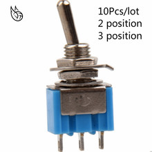 10Pcs DIY Toggle Switch ON-OFF-ON / ON-ON 3Pin 3 Position Latching MTS-103 MTS-102 AC 125V/6A 250V/3A Power Button Switch Car on