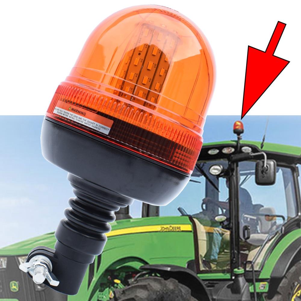 Светодиодный маячок Предупреждение светильник онарь для John Deere, трактор, янтарный грузовик, вращающаяся вспышка, аварийный стробоскоп, ламп...