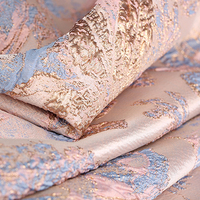 145CM Wide Jacquard Polyester Purple Pink Fabric for Autumn and Spring Dress Coat Jacket E1129