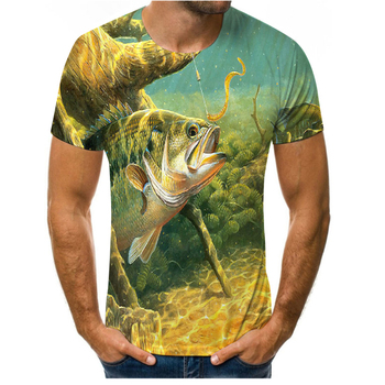 Fishing T-shirt Casual cool animal men women funny T shirt men's hip-hop T-shirts printed O-neck short sleeve Tops&Tee XXS-6XL high quality french bulldog frenchies printed t shirt for men male dogs animal lovers short sleeve o neck cotton funny t shirt
