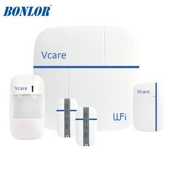 Многофункциональная Wi Fi Gsm система сигнализации для умного дома Ver D, умные охранные сигнализации Vcare 3