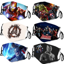 Cosplay Masks Mascarilla Marvel Spiderman Hero Protect Washable Woman Kid Wonder Thor