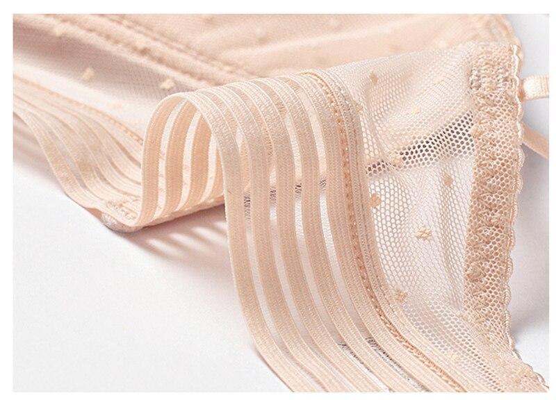 Backless Strapless Bra Push Up Plus Size Women Bralette Wire Free Sexy Lace Thin Dots Mesh Lingerie Brassiere Low Back Underwear - underwear