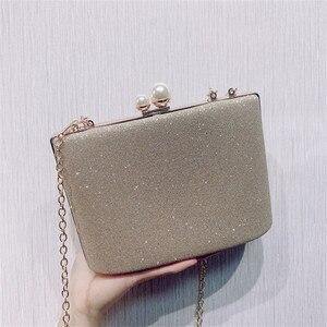 Image 3 - ZD1422 sac à main argenté de soirée pour femmes, pochette de luxe de styliste, sacoche à épaule en cristal Vintage, bourse de mariage