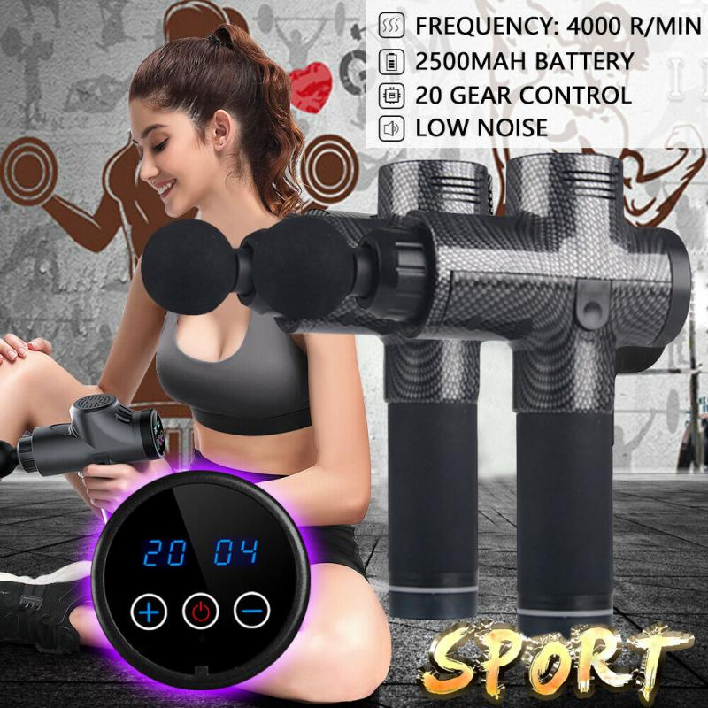 Relax Therapy Massage Gun Percussive Muscle Body Massage Sports Recovery Vibration Fascial Gun Fitness Equipment Health Care