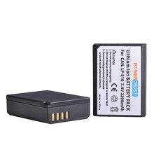PowerTrust 2200mAh LP-E10 LP E10 LPE10 Battery for For Canon EOS Rebel T3 T5 T6 1100D 1200D 1300D Kiss X50 X70 LP-E10 Batteries kiss kiss alive 2 lp