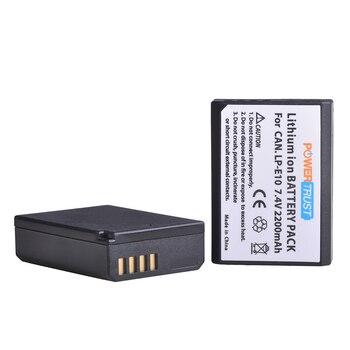 PowerTrust 2200mAh LP-E10 LP E10 LPE10 Battery for For Canon EOS Rebel T3 T5 T6 1100D 1200D 1300D Kiss X50 X70 LP-E10 Batteries
