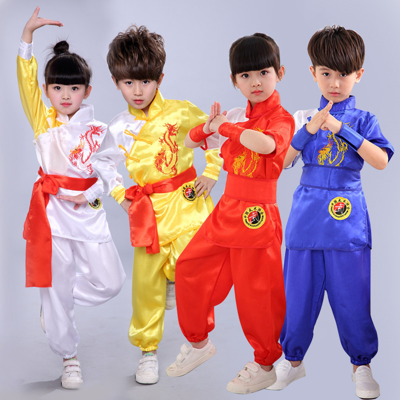 Children Martial Arts Wear Short Sleeve Growing Primary School Children China Kung Fu Exercise Clothing Men And Women Children C