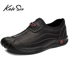 KATESEN 2019 Spring/Autumn Men Shoes Fashion Loafers Men Casual Driving Shoes Soft Moccasins Flats Slip on Footwear Men Big Size цена 2017