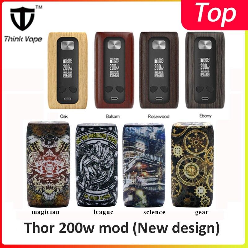 Original Thinkvape Thor vape mod 200W boîtier de contrôle de température Mod penser Vape Thor ST200 puce VW VT TCR Modes de dérivation 510 e Cig Mod