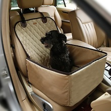 Pet Carrier Dog Car Seat Cover Protection Waterproof With Safety Belt Front For Cat Portable Bag