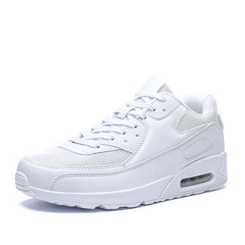 All Season Unisex Fashion Sneakers Men Hip Hop Shoes Spring Men's Air Cushion Mesh Sport Shoes Casual Shoes Men Male Footwear - White, 10