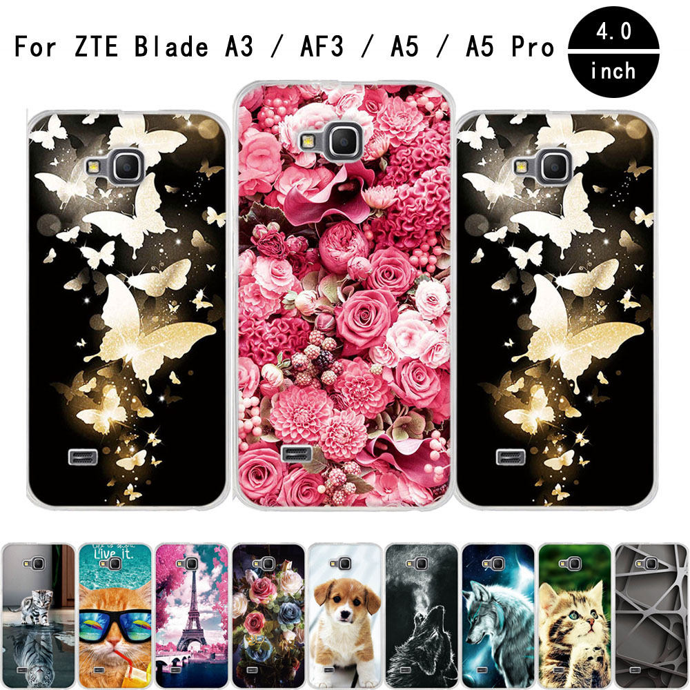 Case For ZTE Blade AF3 A5 4.0 Soft TPU Silicone Back Cover A3 A 5 Pro Phone Cases