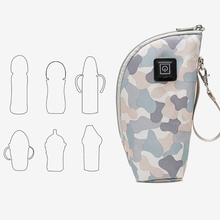 Portable USB Baby Bottle Warmer Travel Milk Warmer Infant Feeding Bottle Heated Cover Insulation Thermostat Heater
