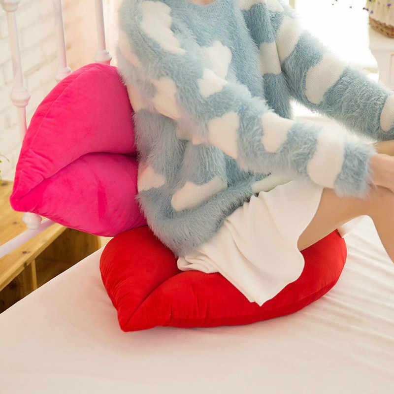 30cm 크리 에이 티브 핑크 레드 입술 모양 쿠션 홈 장식 던져 베개 소파 허리 쿠션 홈 섬유 쿠션