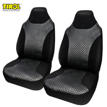 Tirol Car Double Front Seat Set of Black And White with Pattern Quilted Rhombus Pu Seat Set of Protection Chair Accessories Hot(China)