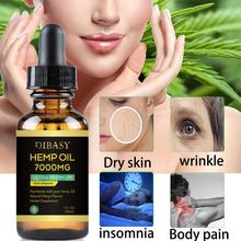 High Quality 30ml Organic Essential Oils Hemp Seed Oil 7000MG Herbal Drops Relieve Stress Oil Facial Body Skin Care Help Sleep