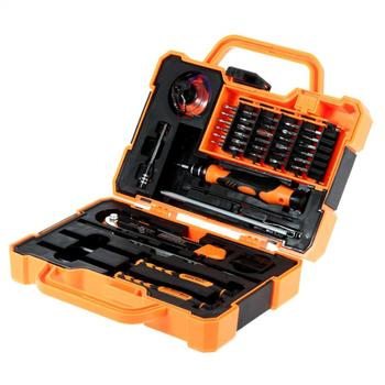 цена на JAKEMY 45 in 1 Disassembling Repair Tool Multi Bits Precision Screwdriver Set with Tweezers Suitable for PC / Phone / Laptop