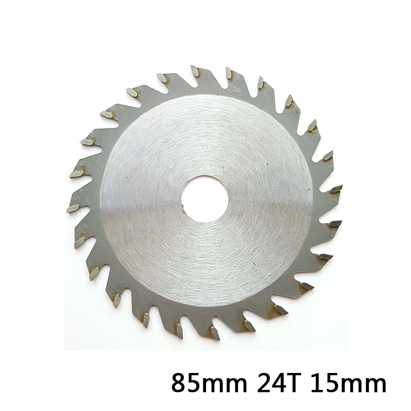 1pc 24T 15mm Bore Carbide Circular Saw Blade 85mm Disc Wood Cutter Metal Plastic For Angle Grinder Wood Carving Disc