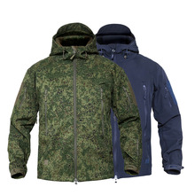 MEGE Mens Military Camouflage Fleece Tactical Jacket Men Waterproof  Softshell Windbreaker Winter Army Hooded Coat Hunt Clothes