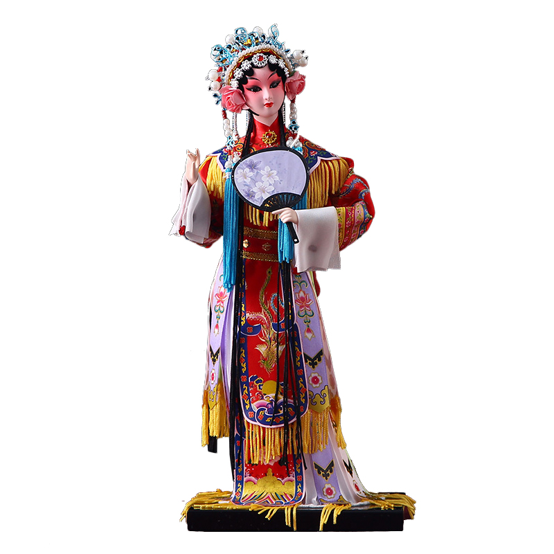 Chinese Doll Beijing Peking Opera Statue Plaster Sculptures Home Decoration Crafts Boutique Doll Souvenir Birthday Gift Ornament