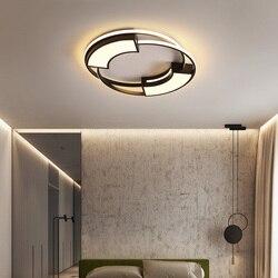 Nowoczesne lampy sufitowe LED do salonu sypialnia studium okrągła lampa plafonnier biały czarny balkon lampa sufitowa LED