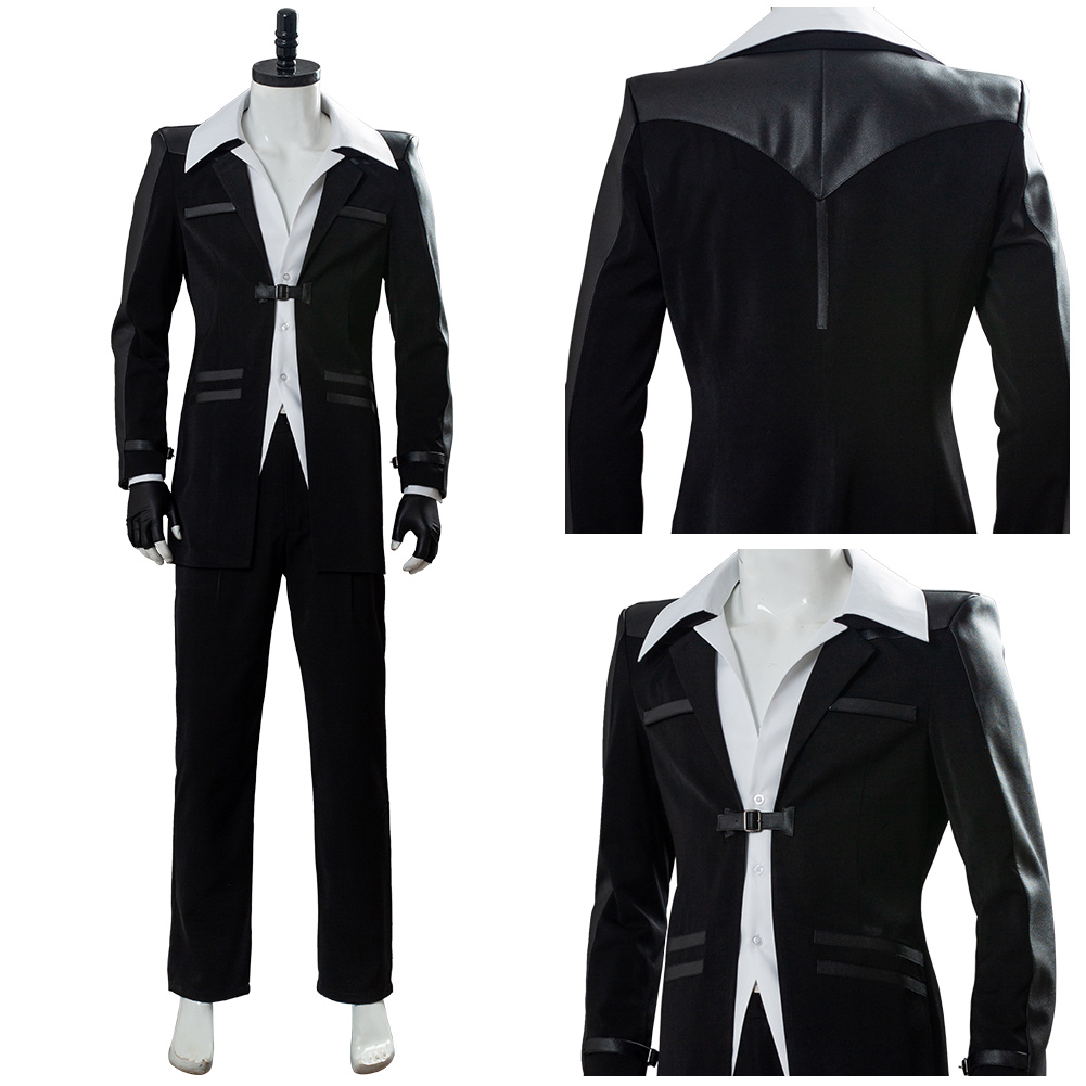 Final Fantasy 7 Remake Reno Costume FF Cosplay Uniform Game Outfit Halloween Carnival Costume Men Women image