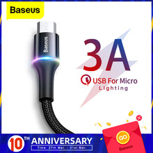 Baseus Micro Usb Kabel 3A Fast Charging Oplader Microusb Kabel Voor Samsung Xiaomi Redmi 4 Note 5 Pro Android Mobiele telefoon Kabels(China)
