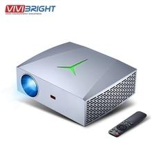 VIVIBright F40 projektör Full HD 1080P LED gerçek 1920*1080P 5800 lümen 3D film video projektör TV çubuk mini PC PS4 HDMI ev sineması